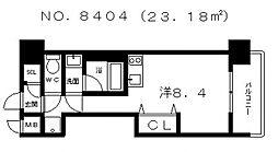 フロントフィールド天王寺 (B)[9階]の間取り