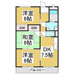 ラヴィアンTAKAIDE[4階]の間取り
