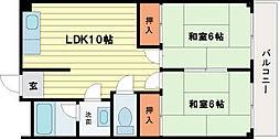 ロイヤルハイツ橿原[3階]の間取り