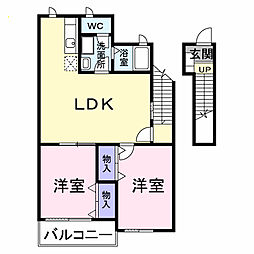 クレストアヅマ1[2階]の間取り