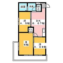 第五菊屋ビル[4階]の間取り