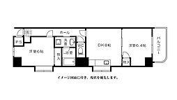 富士見町多川ビル--[1101号室]の間取り