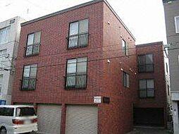北海道札幌市豊平区平岸三条14丁目の賃貸アパートの外観