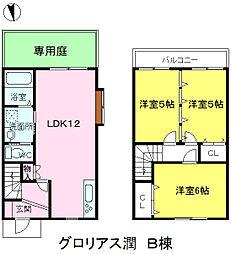 [テラスハウス] 福岡県糸島市潤3丁目 の賃貸【/】の間取り