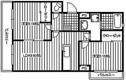 福岡県北九州市小倉南区下石田2丁目の賃貸マンションの間取り