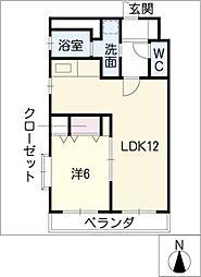 山八第6ビル[6階]の間取り