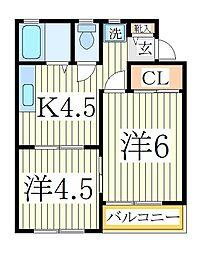 ビューエステート3[1階]の間取り