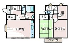[テラスハウス] 東京都町田市玉川学園5丁目 の賃貸【/】の間取り