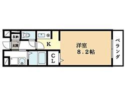 ジェルメ[1階]の間取り