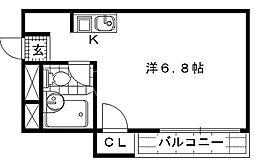 京都参番館[101号室号室]の間取り