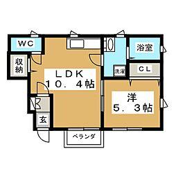 Ruhe弓ノ町[1階]の間取り