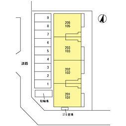 (仮)D‐room桜区南元宿2丁目 I[205号室]の外観