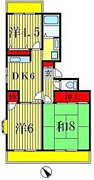サニーハイツ清宮[105号室]の間取り