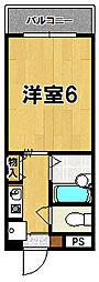 新大宮シティパル[2階]の間取り
