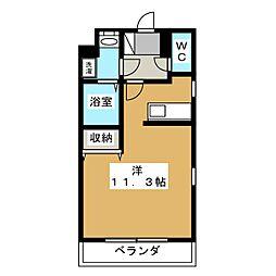 (仮称)宿郷1丁目マンション 4階1Kの間取り