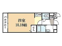 サジタリアス京田辺[2階]の間取り