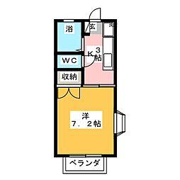 マンサードコーポ[2階]の間取り