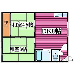 北海道札幌市東区北四十二条東16丁目の賃貸アパートの間取り