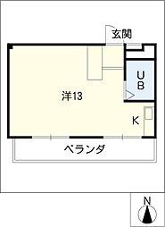 あおやぎハイム6号館[3階]の間取り
