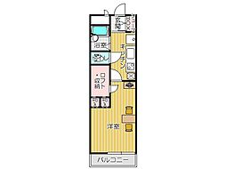 JR鹿児島本線 折尾駅 徒歩10分の賃貸マンション 1階1Kの間取り