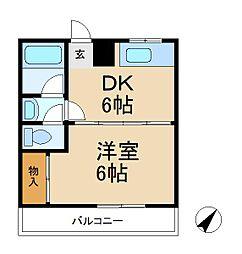 リキハイム[2階]の間取り