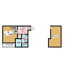 HUMMING LIFE中村区役所[2階]の間取り