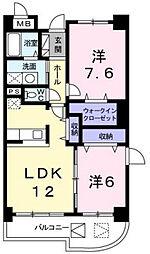ヴェルハイム[3階]の間取り