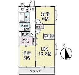 ルナパーク 3階[301号室]の間取り