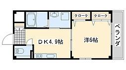 ハイネ福田2[102号室]の間取り