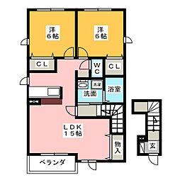 エレガンシア[2階]の間取り