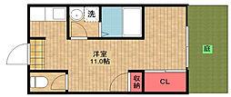 [テラスハウス] 大阪府大阪市住之江区南加賀屋4丁目 の賃貸【/】の間取り