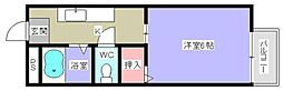 兵庫県姫路市飾磨区英賀清水町1丁目の賃貸アパートの間取り