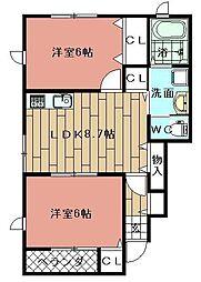 J-メゾン・ガイア[1階]の間取り