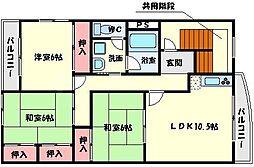 三幡ビル[3階]の間取り