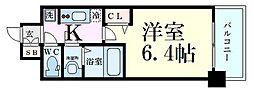 プレサンス新大阪ジェイズ 8階1Kの間取り