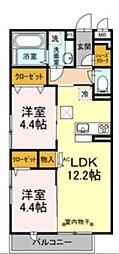 D-room石川[1階]の間取り