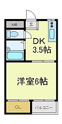 PAL天王寺南[4階]の間取り