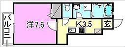 愛媛県松山市和泉北3丁目の賃貸アパートの間取り