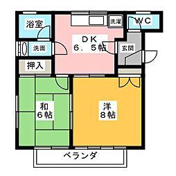 セントラル矢崎 A棟[1階]の間取り