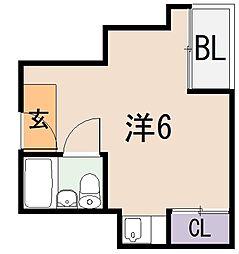 山田ビル[6階]の間取り