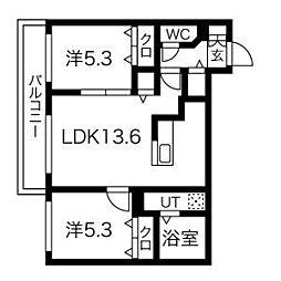 essence310c 4階2LDKの間取り