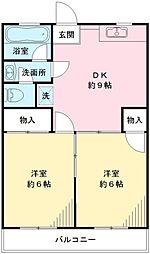 高橋マンションA[2階]の間取り