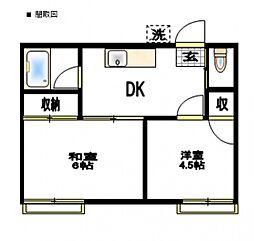 正美荘[2階]の間取り