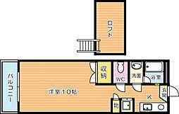 ベルハウス穴生[4階]の間取り