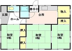 [一戸建] 青森県弘前市大字西城北1丁目 の賃貸【/】の間取り