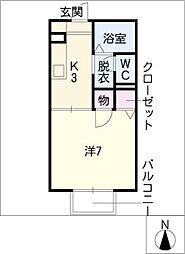 エムズI[2階]の間取り
