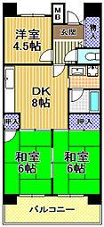 サンラフレ出来島4号棟[7階]の間取り