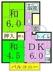 コーポラスシオン[1階]の間取り