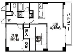 フレマーロ高取南[3階]の間取り