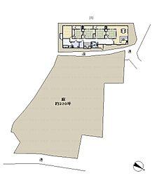 区画図。広々とした土地。